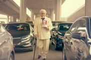KFC's founder saunters into modern times.