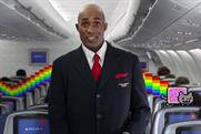 Nyan Cat, making a cameo in Delta's newest safety video.