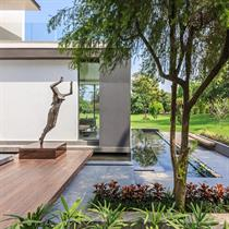 Soaring palm centres contemporary home