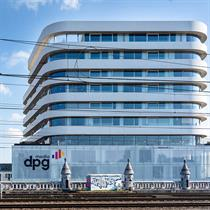 Competition winning design for HQ DPG Media