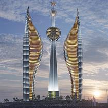 Africa's tallest skyscraper complex embodies national state emblem