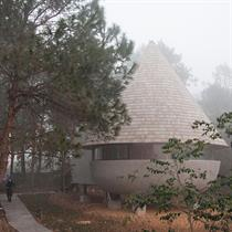 The Mushroom: ZJJZ's wooden house in a Chinese forest