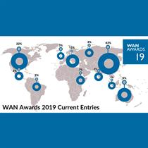 Entries reflect global reach of WAN Awards