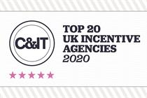 Top 20 UK incentive agencies of 2020