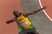 Visa celebrates Usain Bolt's win