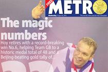 Metro hauls in £12m Olympic ad revenues