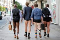 In pictures: Taylor Herring creates 'shorts shorts' stunt for Channel 4