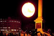 Video: Tropicana makes sun rise early in Trafalgar Square