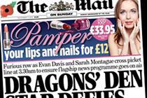 Mail on Sunday rises amid circulation decreases