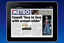 Metro begins tablet push in London as free Wi-Fi commute looms
