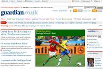 Guardian traffic rises as Times websites languish