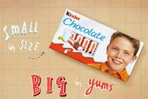Kinder Chocolate to debut on TV