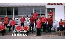 Honda uses dealerships in idents to support sponsorship of Tour of Britain cycling event