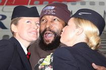 BA flies eighties icon Mr T  to UK in Snickers promotion