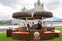 Amstel creates pub out of garden fences