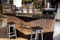 Ballantine's creates multi-sensory bar for airport activations