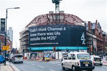 Channel 4 takes dig at London-centricity with viewer complaint draped over Leeds HQ