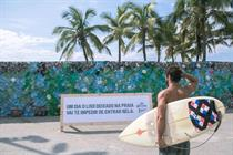 Corona builds plastic 'trash wall' on Ipanema Beach to warn of plastic pollution