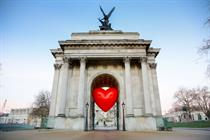 Anya Hindmarch covers London with giant red balloons