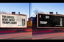 Rebel Kitchen tells Trump to 'F Off' in outdoor ads