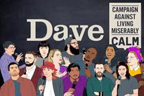 Dave creates comedy festival during ad break in aid of CALM