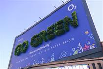 O2 unveils 'living billboard' in green-fingered push