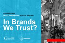 Brand trust 'affects purchase decisions as much as quality and price'