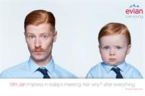 Evian suggests granny piggybacks with #liveyoungjanuary