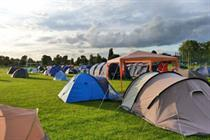 Olympic supplier launches pop-up event camping