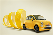 Fiat hosts granita bar to mark launch of new Fiat 500 model