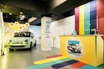 Inside: Fiat's pop-up granita bar