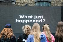In pictures: Giffgaff's interactive billboard in Brick Lane