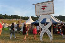 White Ribbon Alliance hosts postcard and picture parlour at Glastonbury festival