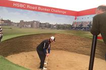 HSBC challenges golf fans with The Open activation