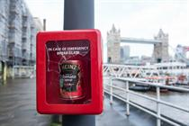 Heinz hides 'emergency soup' in London