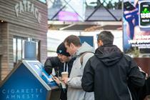Behind the scenes: Blu hosts cigarette amnesty pop-up