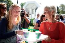 In pictures: Judy Murray serves coffee for Lavazza at Wimbledon