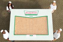 In pictures: Krispy Kreme creates giant box of doughnuts to promote new events service
