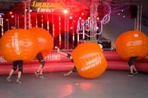 In pictures: Lucozade Energy zorbs into UK festivals with TRO