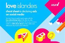 ITV and ASA offer Love Island contestants advice on social media ads