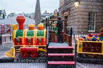 In pictures: Lego unveils train made out of bricks in Covent Garden