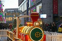 The Lego Santa Express pulls into Liverpool One