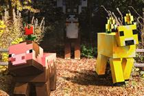 Microsoft's Minecraft places interactive statues in three cities