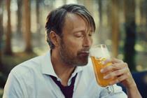 Mads Mikkelsen returns to promote Carlsberg's new premium lager