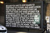 Brands can be 'flag bearers of hope' when governments fail us, artist Robert Montgomery believes