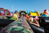 Hasbro's Nerf creates inflatable assault course