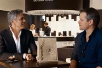 George Clooney and Matt Damon spar in Nespresso spot