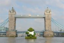 In pictures: Giant PG Tips monkey floats down the Thames