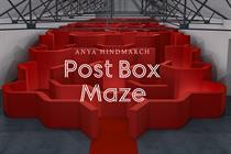 Anya Hindmarch creates maze installation at London Fashion Week