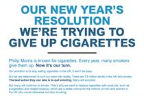 'We're trying to give up cigarettes', says Philip Morris ad